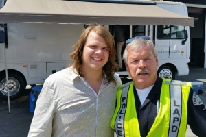 American Idol 2014 winner, Caleb Johnson and onset police officer